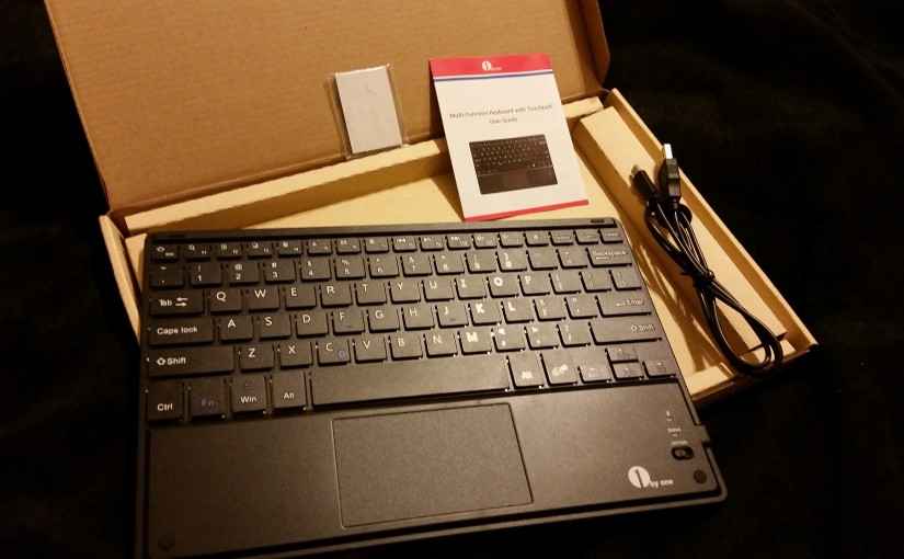 1byone Bluetooth Keyboard With Trackpad unboxed