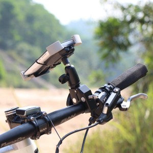 1byone Universal Adjustable Bike Mount for Cell Phones and GPS_Mounted