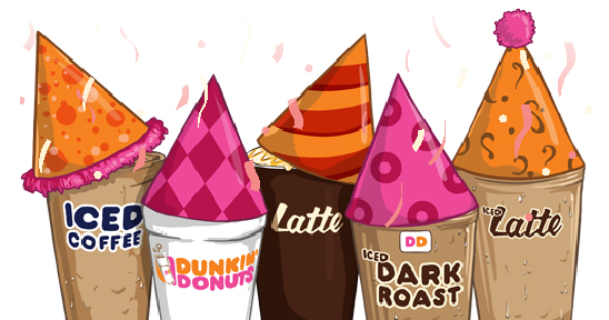 Dunkin Donuts cups