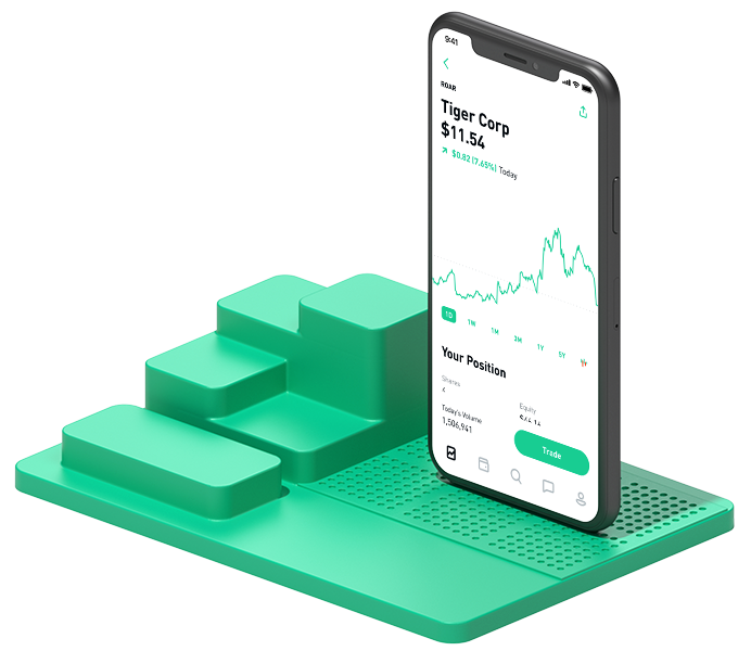 Fancy looking Robinhood stock graph image